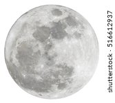 full moon isolated over white... | Shutterstock . vector #516612937