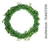 foliage alphabet letter o ... | Shutterstock . vector #516617254