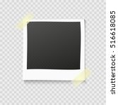realistic vector photo frame on ... | Shutterstock .eps vector #516618085