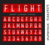 airport flipboard flat style... | Shutterstock .eps vector #516619375