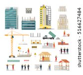 Building. Kinds Of Various...