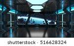Spaceship Blue Interior With...
