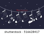 christmas socks. | Shutterstock .eps vector #516628417