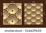 laser cutting set. woodcut... | Shutterstock .eps vector #516629635