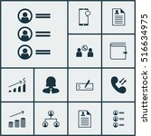 set of management icons on... | Shutterstock .eps vector #516634975