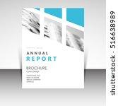 business annual report brochure ... | Shutterstock .eps vector #516638989