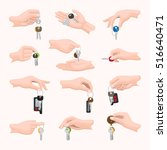 Set Hands With Keys. Various...