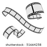 vector film strip set | Shutterstock .eps vector #51664258