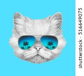 Portrait Of Persian Cat With...