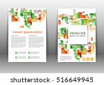 abstract color brochure... | Shutterstock .eps vector #516649945