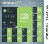 Calendar Template For 2017 Year....