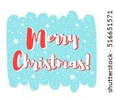 merry christmas vector...   Shutterstock .eps vector #516651571