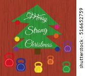 vector strong christmas card.... | Shutterstock .eps vector #516652759