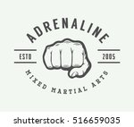 vintage mixed martial arts logo ... | Shutterstock .eps vector #516659035
