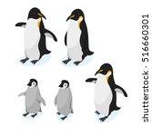 isometric 3d vector cartoon... | Shutterstock .eps vector #516660301