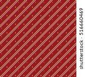 diagonal striped christmas... | Shutterstock .eps vector #516660469
