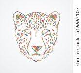 cheetah face designed using...   Shutterstock .eps vector #516662107