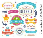 sale labels and tags design... | Shutterstock .eps vector #516663865