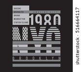 new york city typography  t...   Shutterstock .eps vector #516664117