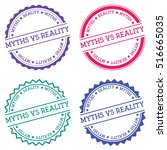 myths vs reality badge isolated ...   Shutterstock .eps vector #516665035