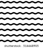 wave black and white pattern  | Shutterstock . vector #516668905