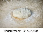 Flour And Dough On The Board