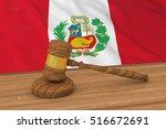 peruvian law concept   flag of... | Shutterstock . vector #516672691