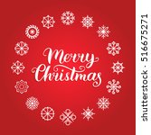 vector merry christmas... | Shutterstock .eps vector #516675271