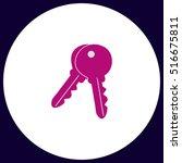 keys simple vector button....