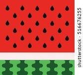 water melon vector cartoon... | Shutterstock .eps vector #516676255