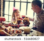 family together christmas... | Shutterstock . vector #516680827