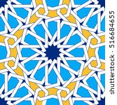 islamic geometric ornaments... | Shutterstock .eps vector #516684655