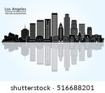los angeles  united states ... | Shutterstock .eps vector #516688201