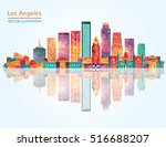 los angeles  united states ... | Shutterstock .eps vector #516688207