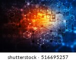 medical abstract background .... | Shutterstock . vector #516695257
