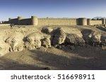 rayen castle is an adobe castle ... | Shutterstock . vector #516698911