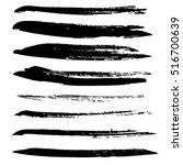 black ink vector brush strokes. ... | Shutterstock .eps vector #516700639