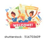 welcome to university | Shutterstock .eps vector #516703609