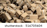 moving boxes background. 3d... | Shutterstock . vector #516705604
