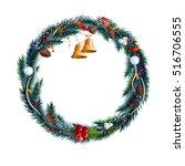 christmas decorative frame.... | Shutterstock .eps vector #516706555