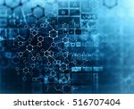 medical abstract background ....   Shutterstock . vector #516707404