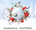 christmas and new year  winter... | Shutterstock . vector #516709561