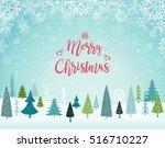 merry christmas landscape....   Shutterstock .eps vector #516710227