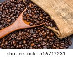 roasted coffee beans | Shutterstock . vector #516712231