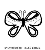 black line isolated butterfly... | Shutterstock .eps vector #516715831