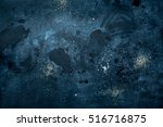 dark blue messy background.... | Shutterstock . vector #516716875