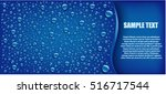 water drops on blue background... | Shutterstock .eps vector #516717544