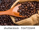 roasted coffee beans | Shutterstock . vector #516722644