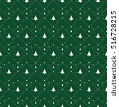 christmas pattern with small... | Shutterstock .eps vector #516728215