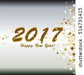 happy new year 2017  gold stars ... | Shutterstock .eps vector #516731425